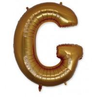 Фольгированная Буква G золото (102 см)